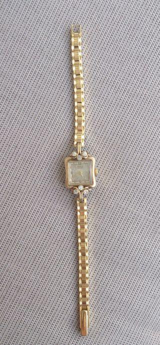 Anker Damenarmbanduhr 15 Steine Handaufzug 40er Jahre Funktionstüchtig Bild