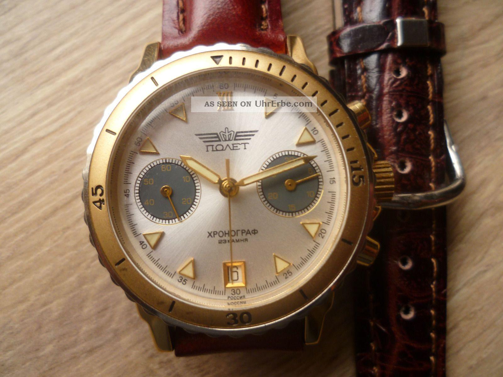 Sehr Schöner Poljot Chronograph Armbanduhren Bild