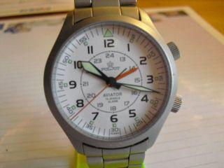 Poljot Aviator Flugkapitän Uhrenwecker Handaufzug Bild