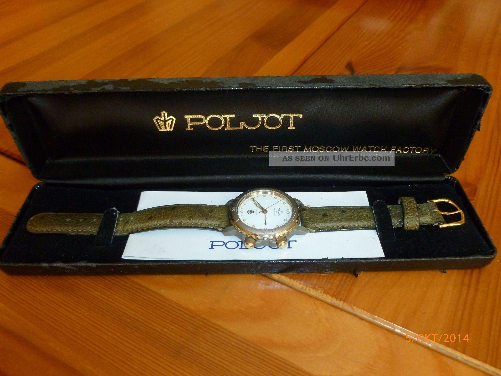 Poljot Poseidon,  Russische Armbanduhr,  18 Steine,  Weckfunktion,  Limitiert Armbanduhren Bild