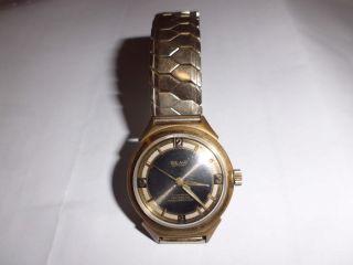 Sehr Alte,  Vergoldete Beha Armbanduhr Bild