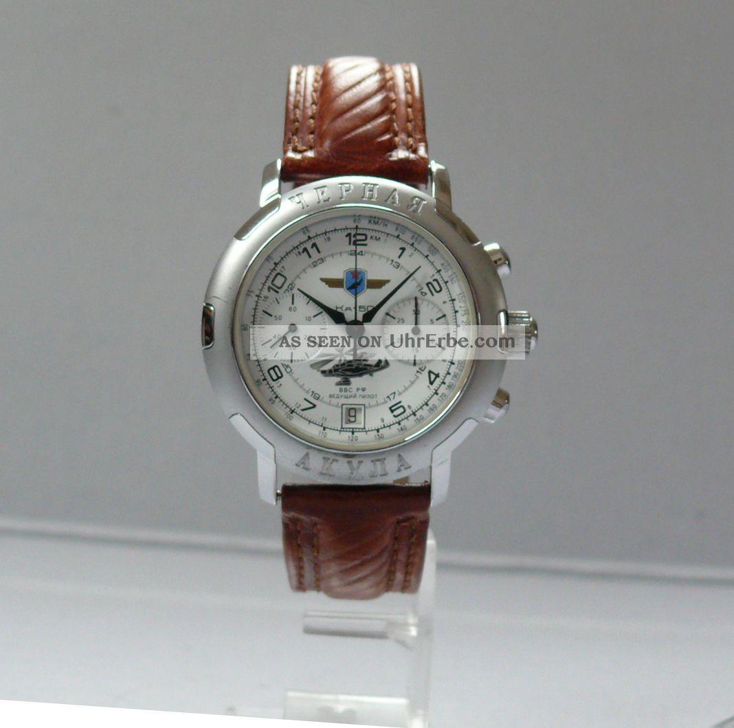 Poljot Chronograph Ka - 50 Kampfhubschrauberpilot (37.  16 - 406) Armbanduhren Bild