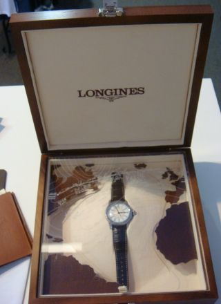 Longines Lindbergh 75th Anniversary Fliegeruhr 47mm Handaufzug No.  20 Von 75 Rare Bild