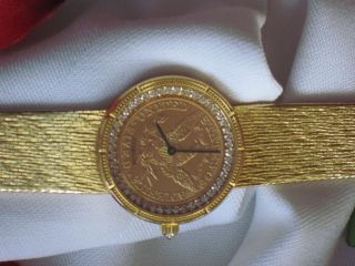 Damenarmbanduhr In Gold 750 Analog In Gelbgold - Mechanisch Handaufzug Corum. Bild