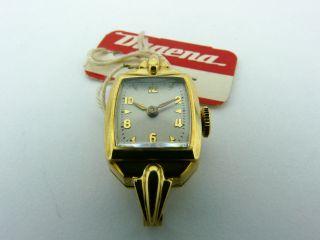 Armbanduhr Dugena Werk 694 / Bifora 55 Handaufzug 585/ Gold Mit Kordelanstoss Bild