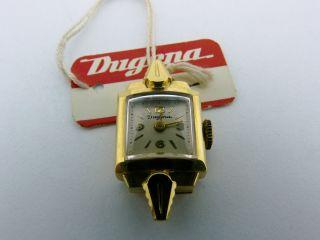 Armbanduhr Dugena As 976 Handaufzug 585/ Gold Mit Kordelanstoss Bild