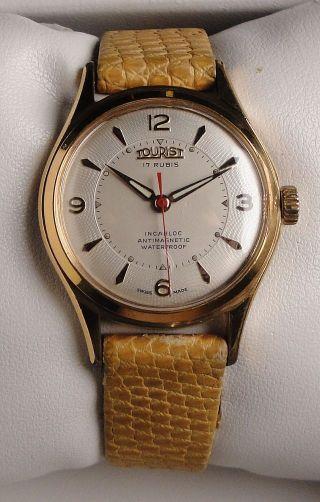 Klassische Vintage Armbanduhr Tourist – Handaufzug – Cal.  Eta 1100 Bild
