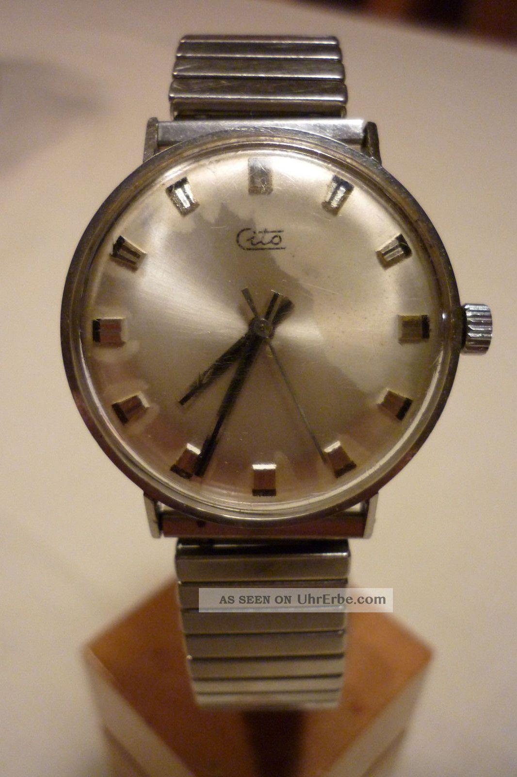 Herrenuhr Cito Mechanisch - Handaufzug Uhr Armbanduhr Armbanduhren Bild