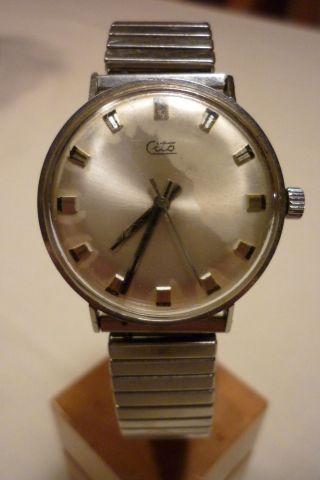 Herrenuhr Cito Mechanisch - Handaufzug Uhr Armbanduhr Bild