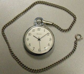 Seltene Russische Raketa Taschenuhr / Rare Russian Raketa Open Face Pocket Watch Bild