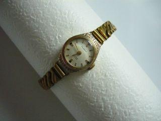 Prätina Damen Armbanduhr Uhr Vergoldet Vintage Handaufzug 17 Rubis Antichoc Bild