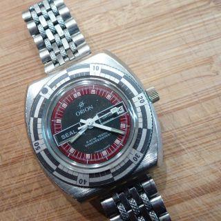Orion Herrenuhr Mechanisch Handaufzug Armbanduhr Uhr Sammler Swiss Mit Datum Bild