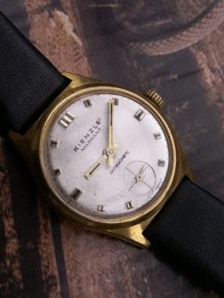 Seltene Herrenuhr Kienzle - Markant In Gold 60er Jahre,  Sekunde Auf 6 Bild
