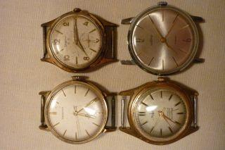 Konvolut Von Uhren 4 Stück Teildefekt Anker,  Dugena,  Wostok,  Modena Armbanduhren Bild