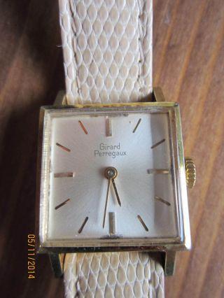 Alte Girard Perregaux Damenuhr 17 Jewels Swiss Modele Depose Fond Läuft. Bild