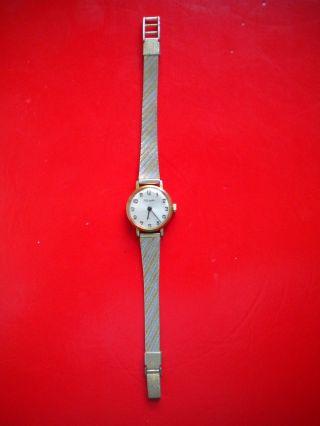 Nivada.  Swiss Made.  Damenuhr Mit Goldmetallenen Uhrband.  Handaufzug. Bild