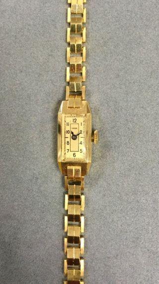 Golduhr 14kt Handaufzug 585er Gelbgold Bild