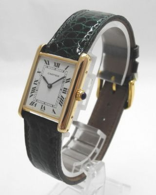 Cartier Tank 18k/750 Er Gelbgold Medium Bild