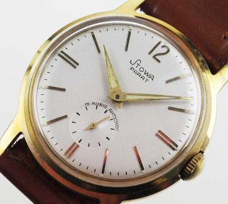 Stowa Parat Watch Damen Herren Uhr 1950 /60 Handaufzug Lagerware Nos Vintage 51 Bild