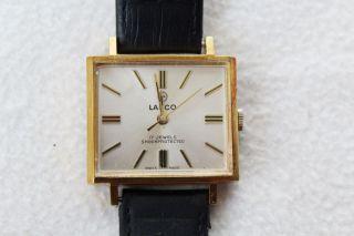 Vintage Lanco 17 Jewels Armbanduhr. Bild