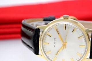 Ultra 14kt 585 Gold Uhr Handaufzug Eta 2750 Herrenuhr - Golduhr - Armbanduhr Bild