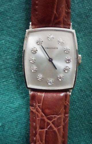 Schöne Longines - Armbanduhr In Weissgold Mit Diamanten Bild