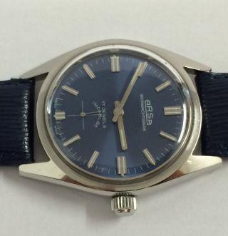 Vintage Arsa Wehrmachtswerk Handaufzug Herren Armbanduhr,  Werk Cal.  Ut 6376. Bild