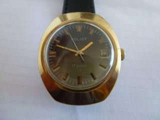 Poljot Armbanduhr 14 K.  Vergoldet Datumsanzeige Bild