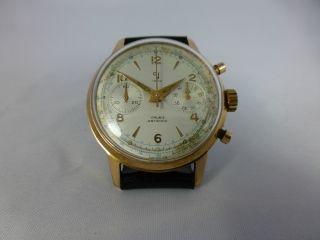 Yema Schaltradchronograph Valjoux 92,  Vergold.  Geh. ,  Handaufzug,  Vintage 1920 - 70 Bild