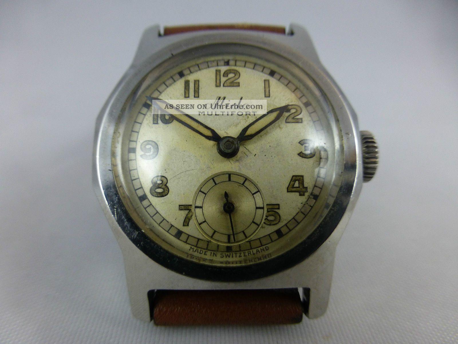 Mido Multifort Kal.  ? Handaufzug,  Edelstahl,  Vintage 1920 - 70 Armbanduhren Bild