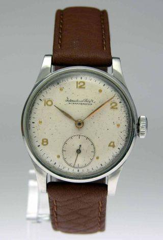Iwc Seltene Stahl Armbanduhr Mit Handaufzug Bild