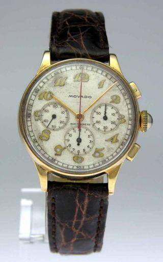 Movado Gold Chronograph Mit Handaufzug Bild