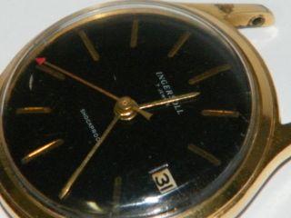 Ingersoll Schwarz Herren Armbanduhr,  Wrist Watch,  Montre,  Orologio,  Repair,  Läuft Bild