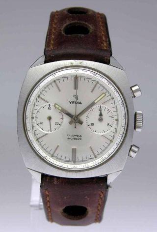 Yema Stahl Herren Uhr Mit Chronograph Und Handaufzug Bild
