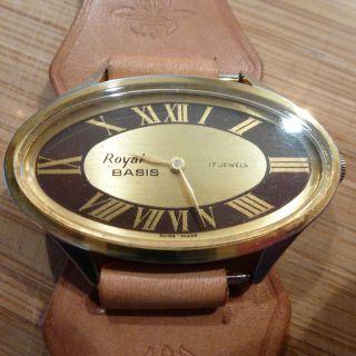 Royal Basis Mechanisch Handaufzug Armbanduhr Uhr Sammler Swiss 17 Jewels Bild