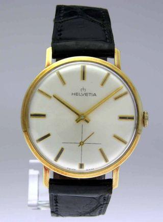 Helvetia Gold Herren Uhr Mit Handaufzug Bild