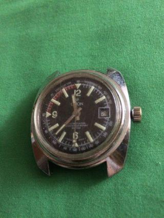 Sportliche Vintage Taucheruhr Orion Mit Eb 8810 (ebosa) Kaliber,  Handaufzug Bild