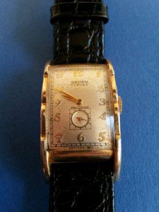 Gruen Precision Curvex Herrenarmbanduhr,  Cal.  370 Bild
