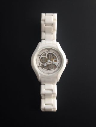 Emporio Armani Keramik Automatik Uhr Weiß Ar 1428 Bild