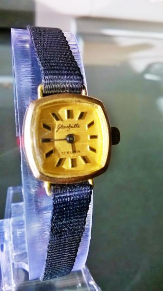 Glashütte 14 Karat Echtgold Damen Armbanduhr Bild