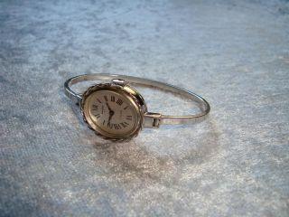 Anker 85 Spangen - Uhr 835 Silber Mechanik - Werk Voll FunktionstÜchtig Bild