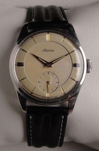 Vintage Armbanduhr Alpina – Handaufzug - Cal.  592 – Ca.  1950 Bild