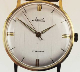 Mauthe 612 Watch Damen Herren Uhr 1950 /1960 Handaufzug Lagerware Nos Vintage 54 Bild