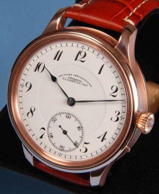 A.  Lange & SÖhne Quality Deutsche Uhrenfabrik 1920 Taschenuhrwerk Rose Gold Bild