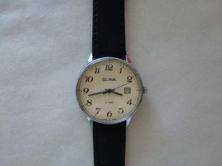 Hau.  Vintage Uhr Slava 21jewels Mit Datum, Bild