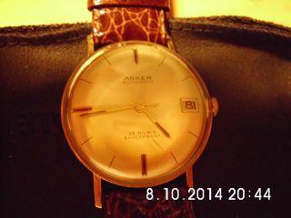 Herren Armbanduhr Mechanisch Marke Anker Massiv Aus Gold 14k (585) Gepünzt Bild