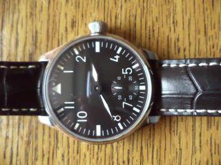 Herausragende Armbanduhr Parnis,  Handaufzug,  Flieger,  Seagull,  Neuwertig Bild