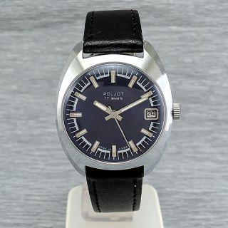 Russische Herrenuhr Poljot 2614.  2h Handaufzug Ussr Mechanische Herrenarmbanduhr Bild