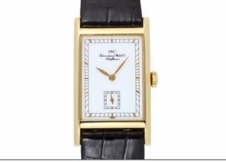 Luxus Weihnachstgeschenk Iwc Novecento 18k 750er Gold Ungetragen Handaufzug Bild