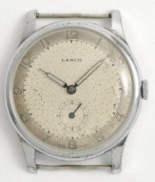 Lanco Schöne,  Antike,  Klassische Schweizer Armbanduhr.  Swiss Made Vintage Watch Bild